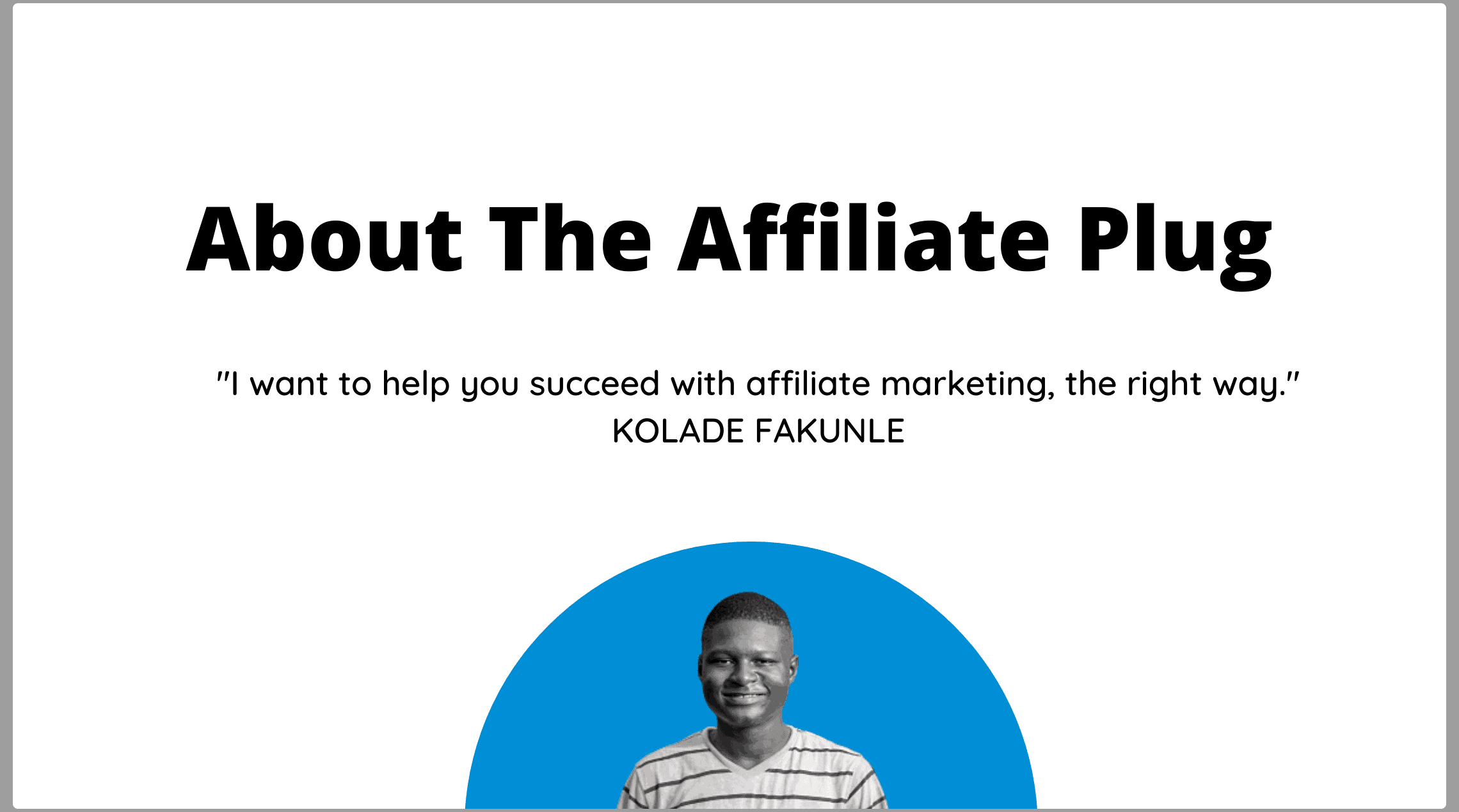 About - The Affiliate Plug
